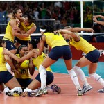 2012 London Olympic Women's Volleyball Gold Medalists - Brazil