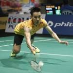 Malaysian Men's Singles Player Lee Chong Wei Diving