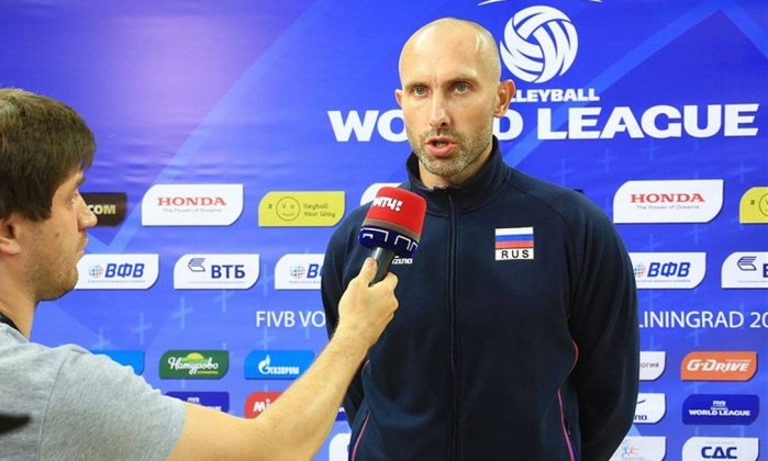 Russian Volleyball Player Sergey Tetyukhin