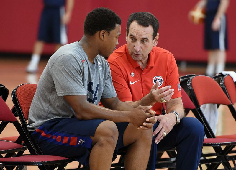 Team USA Head Coach Mike Krzyzewski