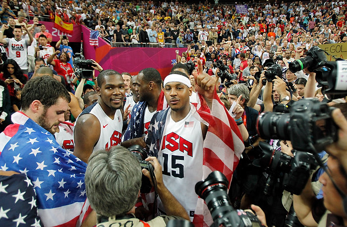 2012 London Olympics Men's Basketball Gold Medalists - Team USA