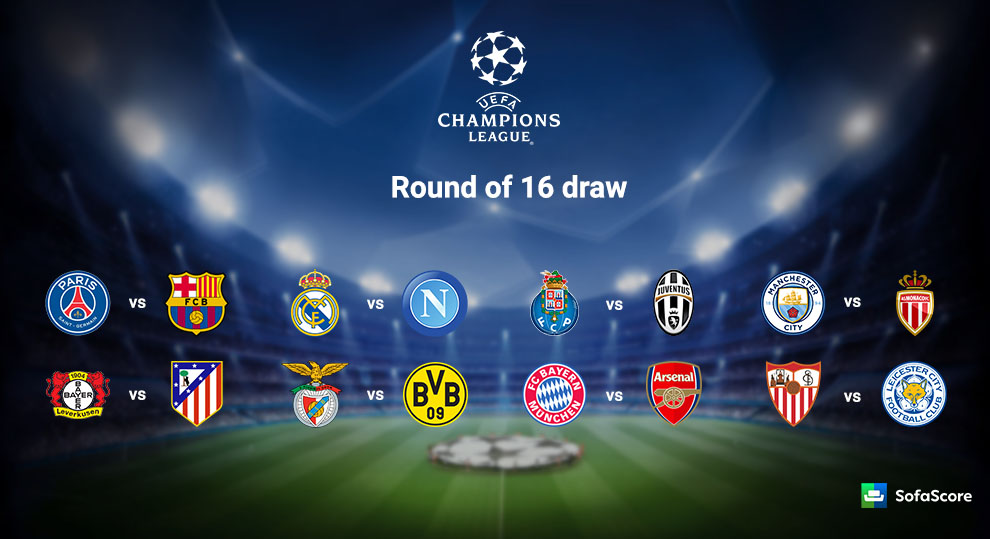 2016-17 UEFA Champions League Round of 16 Draw