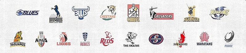 2017 Super Rugby Team Logos