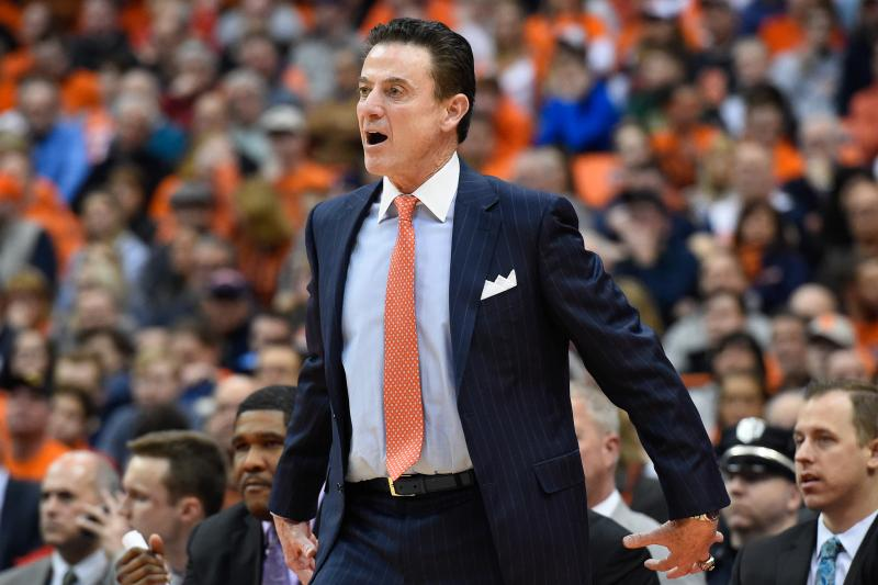 Louisville Cardinals Basketball Head Coach Rick Pitino