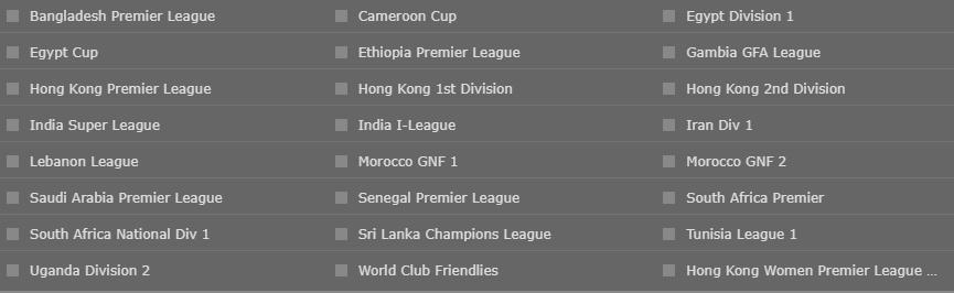 bet365 Soccer Leagues