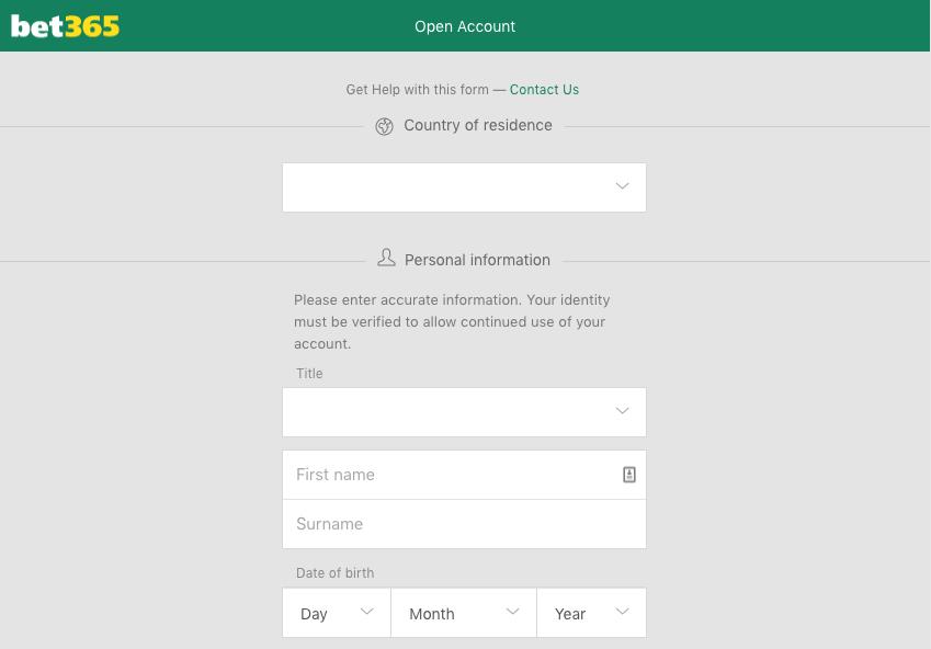 bet365 Account Registration