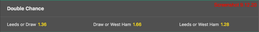 bet365 Double Chance