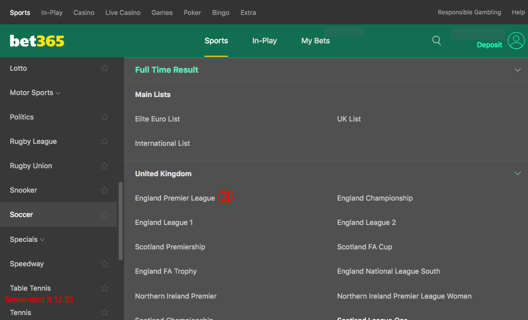 bet365 England Premier League
