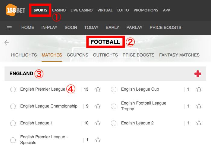 188BET English Premier League