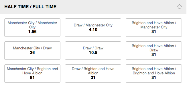 188BET Half-Time:Full-Time