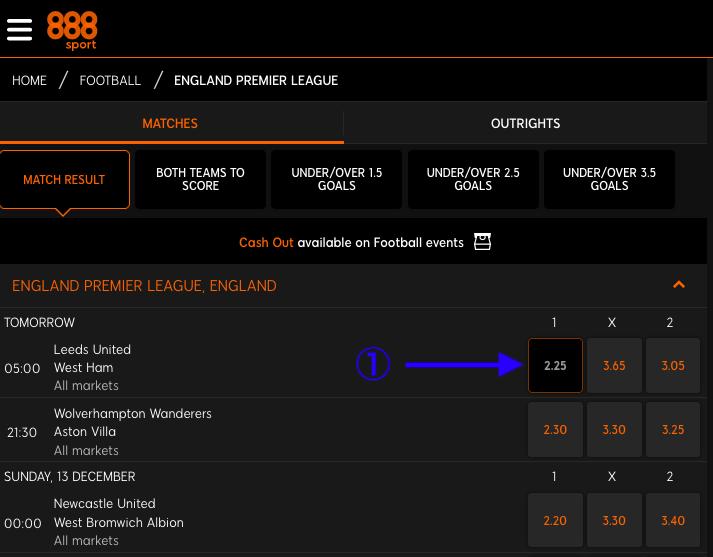 888sport England Premier League