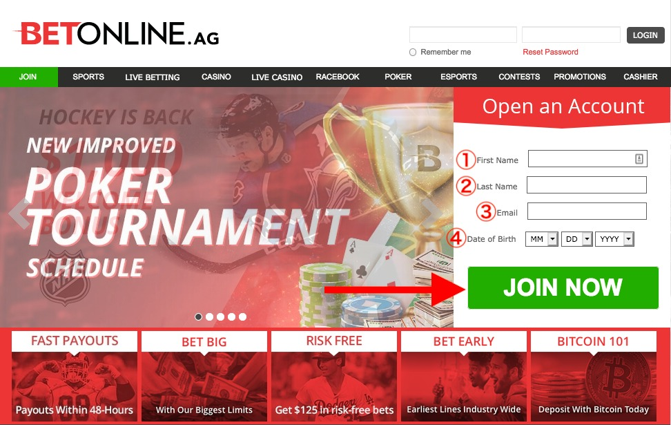 BetOnline Register