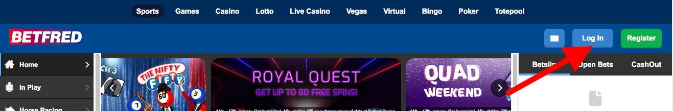 Betfred Login