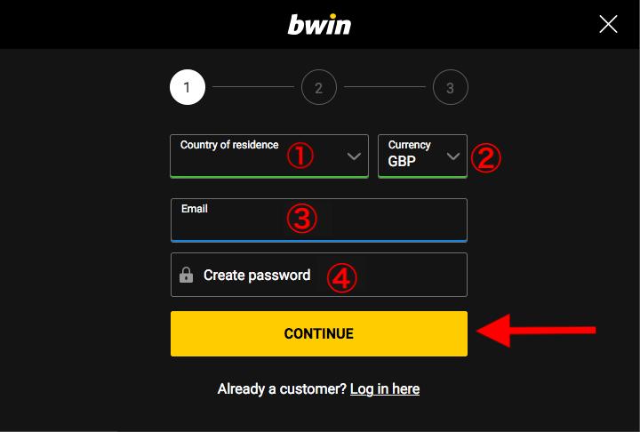 Bwin Register