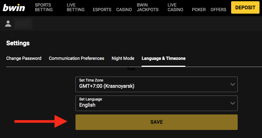 Bwin Time Zone