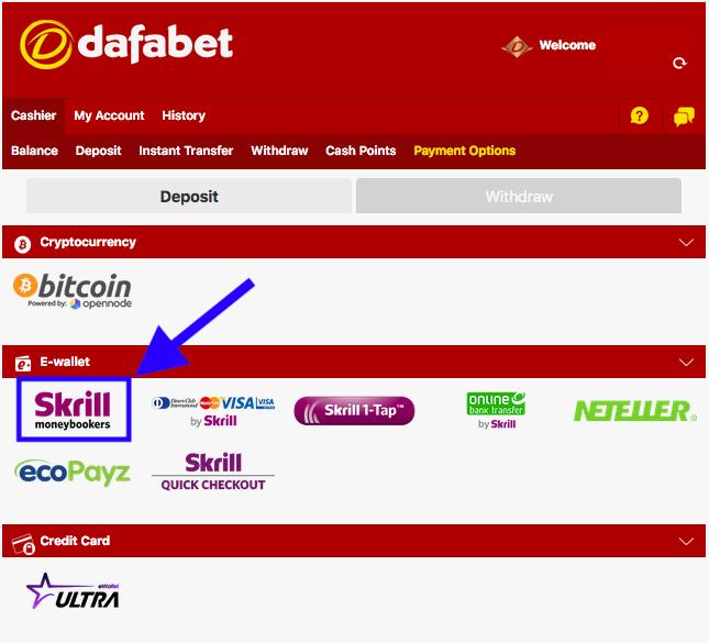 Dafabet Skrill Deposit