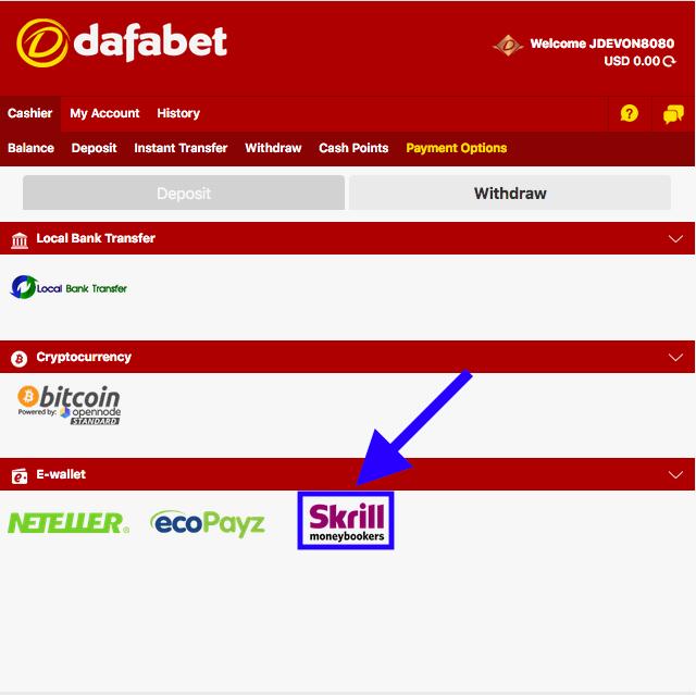 Dafabet Skrill Withdrawal