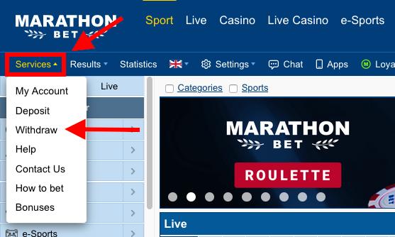 Marathonbet Withdrawal
