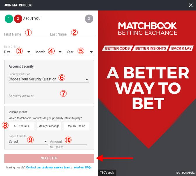 Matchbook Register