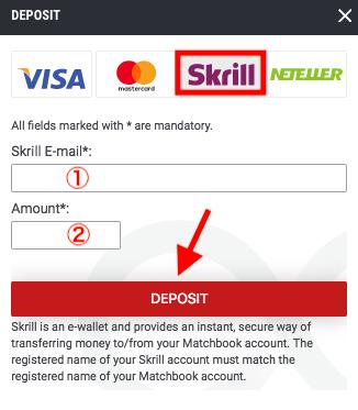 Matchbook Skrill Deposit