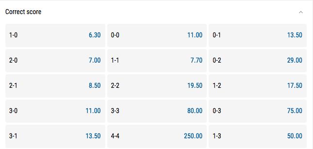 Pari Match Correct Score