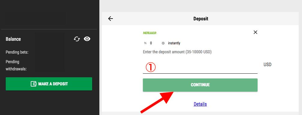 Pari Match Neteller Deposit
