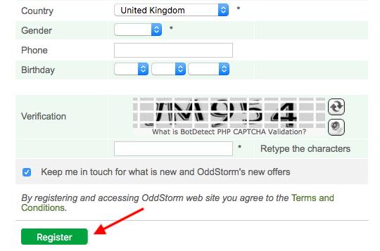 OddStorm Register