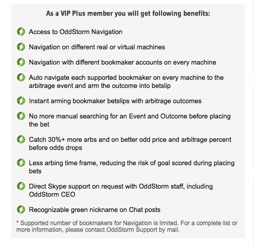 OddStorm VIP Plus Benefits