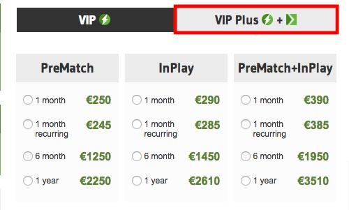 OddStorm VIP Plus Pricing