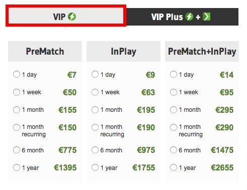 OddStorm VIP Pricing