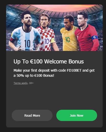 Promosi Bonus Selamat Datang