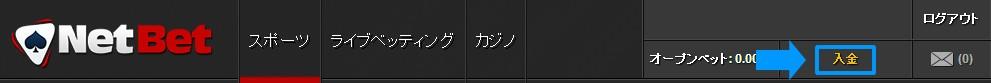 NetBet 入金