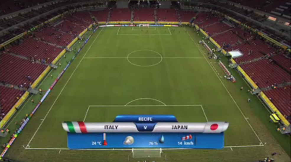 2013 コンフェデ杯 日本対イタリア