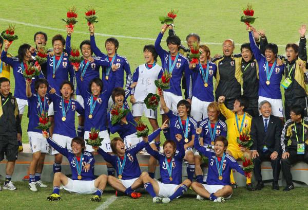 2010年大会で男子サッカー優勝