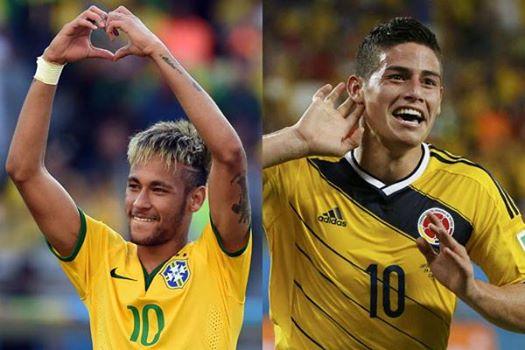 Neymar Jr (FC Barcelona) & James Rodriguez (Real Madrid)