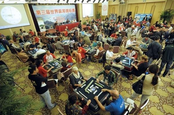 世界麻雀選手権の様子
