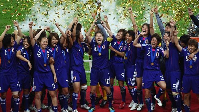 女子W杯ドイツ大会優勝写真
