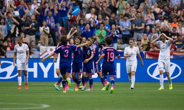 なでしこジャパン勝利