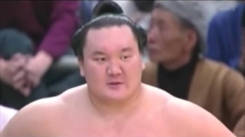 大相撲三月場所千秋楽での白鳳優勝インタビュー