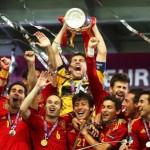 ユーロ2012 スペイン代表 優勝時の集合写真