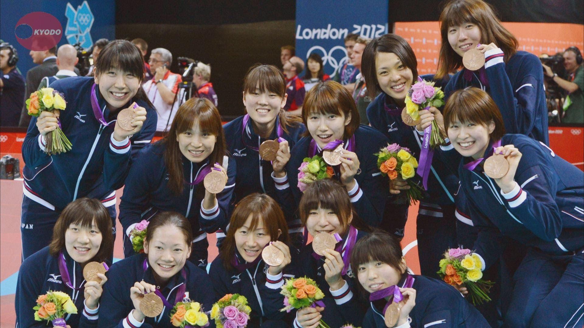 ロンドン五輪で銅メダルを獲得した日本代表