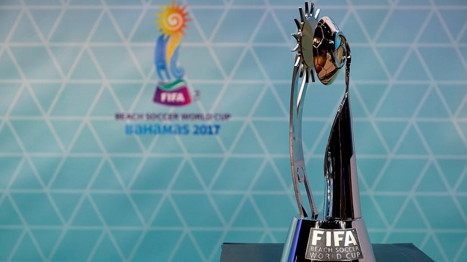 ビーチサッカーワールドカップ2017優勝カップ