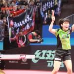アジア選手権2017で優勝した平野美宇