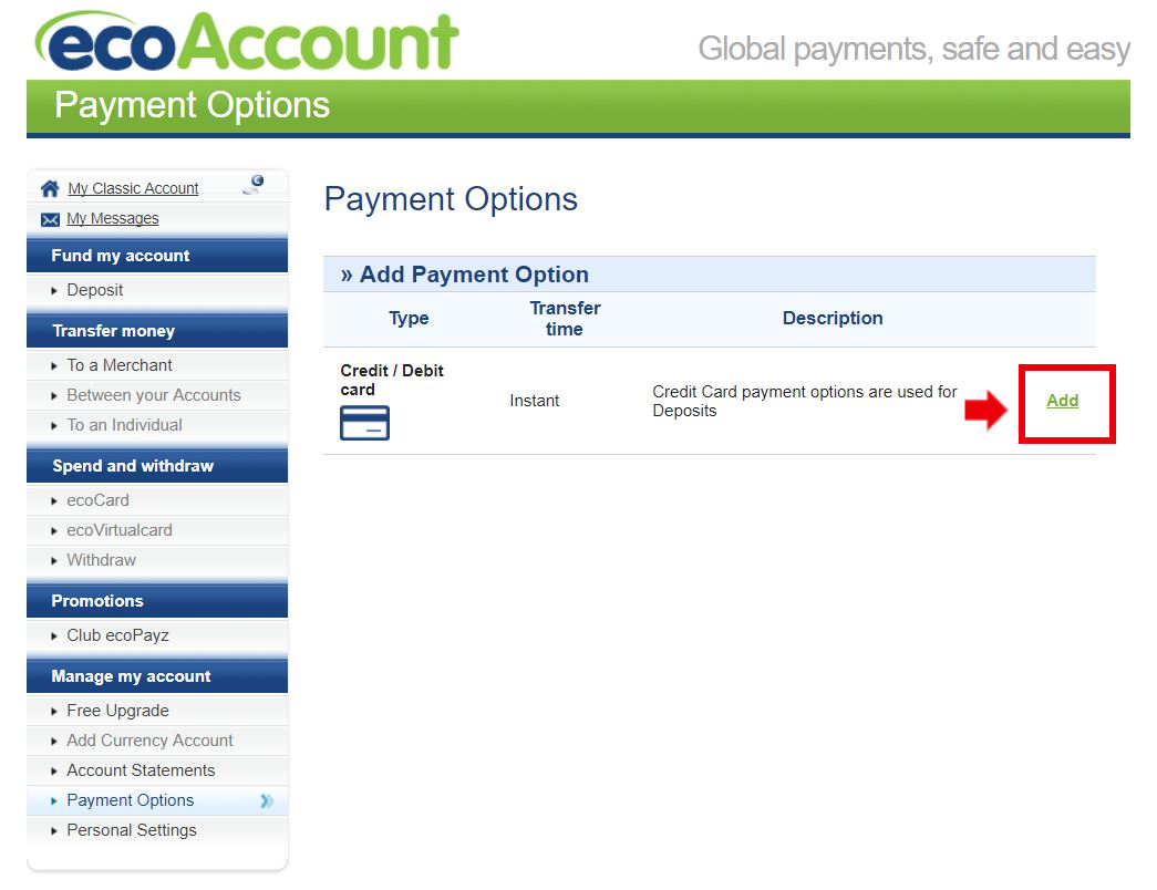 エコペイズクレジット登録画面3