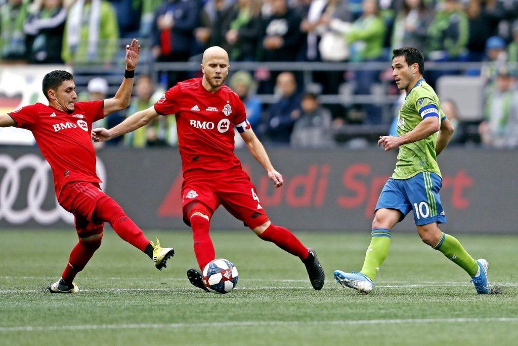MLSカップ決勝の1シーン