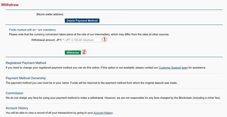 マラソンベット Bitcoin(ビットコイン)出金