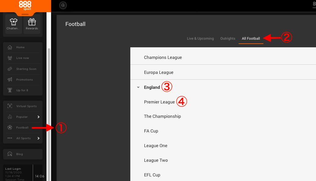 888sport イングランド・プレミアリーグ