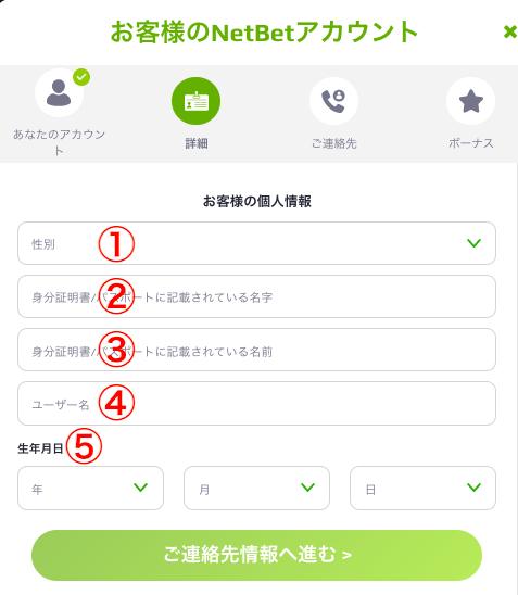 NetBet 登録